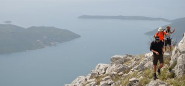 Hiking above the Adriatic sea